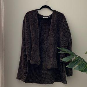 Soft Dark Green Cardigan Sweater Size Medium